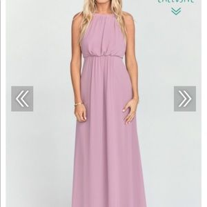SHOW ME YOUR MUMU AMANDA MAXI DRESS ANTIQUE ROSE